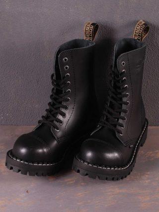 10 Eyelet Boots Black