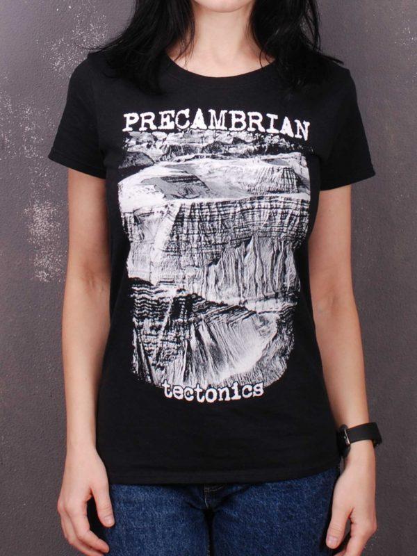 Precambrian – Tectonics Lady Fit T-Shirt Black