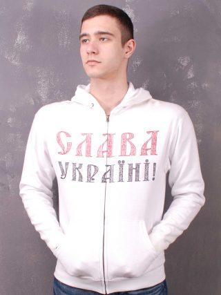 Тризуб Hooded Sweat Jacket White