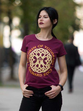 Ragnard Rock Fest – Children Of Yggdrasil Lady Fit T-Shirt Bordo