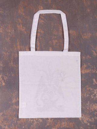 Satan Hipster – Baphomet White Bag
