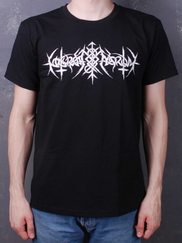 Nokturnal Mortum – Logo 2021 White Rune Band TS Black