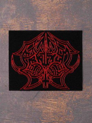 Abruptum Red Logo Printed Patch