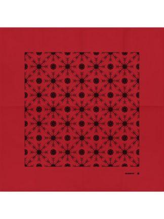 Helm Of Awe Bandana Red (Black Print)