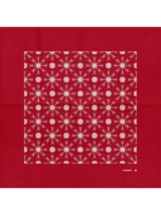 Helm Of Awe Bandana Red (White Print)