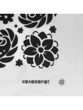 Flowers Bandana White